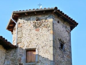Le sommet de la tour du Prieuré