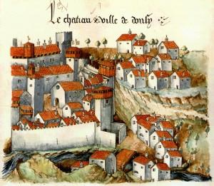 Le château ville de Donzy