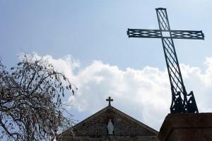 Croix de l'église de Salt