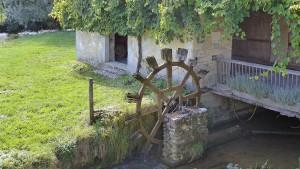 Voyage dans le Jura: la roue du Moulin.