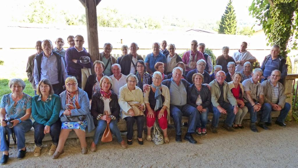 Voyage dans le Jura: photo de groupe.