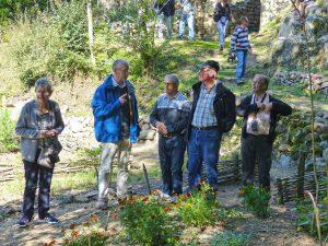 Visite des gens du Pilat, le jardin
